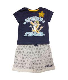 Conjunto-Camisa-Manga-Curta-com-Bermuda---Tigrao---Azul-Marinho-e-Cinza---Disney
