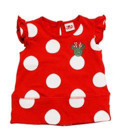 Blusa-de-Manga-Franzida-com-Poas---Minnie---Vermelha-e-Branca---Disney