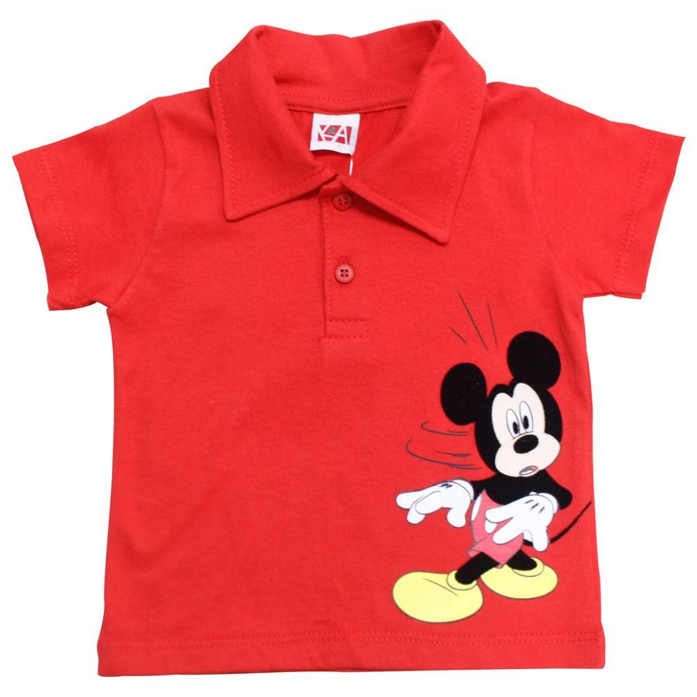 Camisa Polo - Mickey - Vermelha - Disney - M