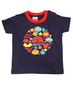 Camiseta-Manga-Curta---Mickey---Azul-Marinho---Disney