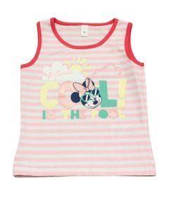 Blusa-Regata-Listrada---Minnie---Rosa-Coral---Disney