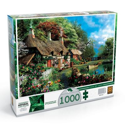 Quebra-Cabeça - Casa no Lago 1000 Peças - Grow