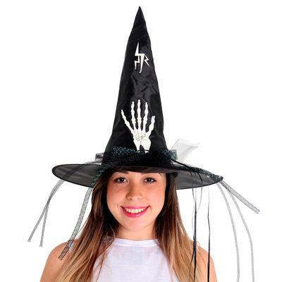 Chapéu de Bruxa Preto - Esqueleto - Sulamericana