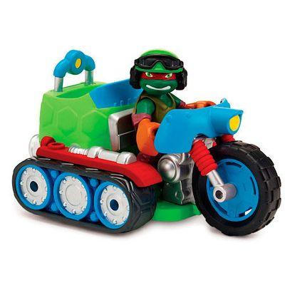 Boneco-Tartarugas-Ninjas-Half-Shell-Hero---Figura-com-veiculo---Rafael-Bike---Multikids