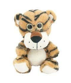 Pelucia-Animais-Selvagens-Visionarios---Tigre-Marom---20-cm---Bee-Me-Toys