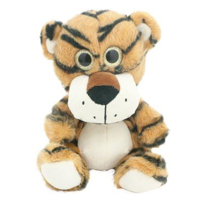 Pelúcia Animais Selvagens Visionários - Tigre Marrom - 20 cm - Bee Me Toys