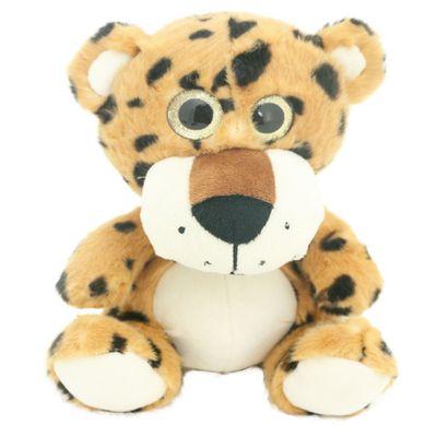 Pelúcia Animais Selvagens Visionários - Onça Pintada - 20 cm - Bee Me Toys