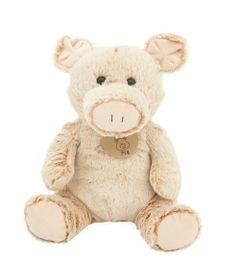 Pelucia-Animais-Simpaticos-da-Fazenda---Porco---26-cm---Bee-Me-Toys