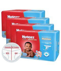 Kit-com-4-Pacotes-de-Fralda-Descartavel-Turma-da-Monica-Supreme-Care-Meninos---Huggies---XG---16-Unidades