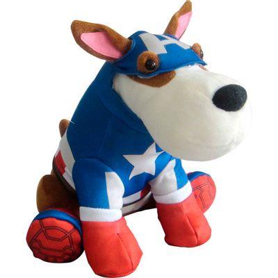 Pelúcia Interativa - Cão Spock - Marvel Avengers - Capitão América - Candide - Disney