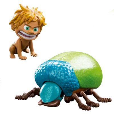 Figura Básica - 10cm - Disney - O Bom Dinossauro - Spot e Giang Beetle - Sunny
