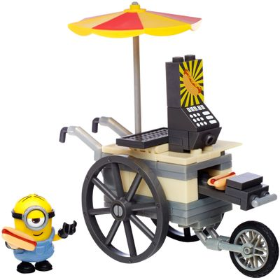 Playset-Mega-Bloks---Minions---Flying-Hot-Dogs---Mattel