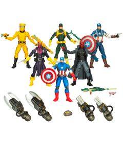 100117959-Imperdivel-Super-Kit-Marvel-Legends-Capitao-America-Hasbro