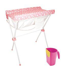 100115226-Kit-Banheira-Slim-Plus-Sweet-Pink-Kiddo-e-Canequinha-de-Enxague-para-Meninas-Multikids-Baby