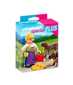 Playmobil---Especial-Plus---Fazendeira-com-Bezerros---4778