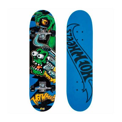 Skate com Acessórios Hot Wheels - Motor Green - Fun
