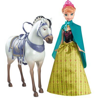 Boneca Disney Frozen - Princesa Anna com Cavalo - Mattel
