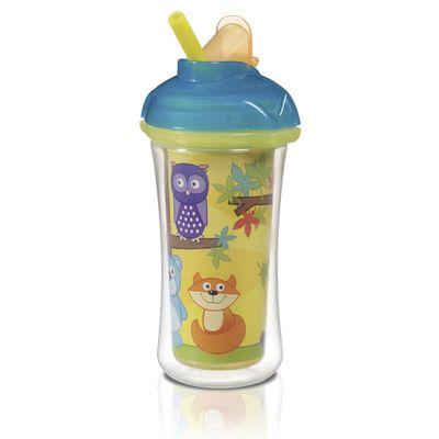 Copo-Termico-com-Canudo---266-ml---Sippy-Amarelo---Urso---Munchkin