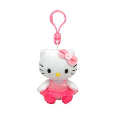 Pelúcia Chaveiro - Beanie Boops Clip - Hello Kitty Bailarina - DTC