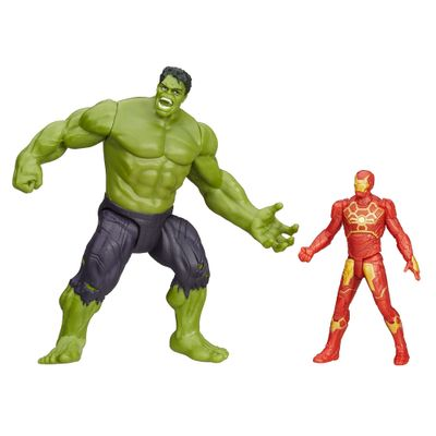 Mini Figura e Veículo - Marvel Avengers - Age Of Ultron - Hulk e Iron Man - 6 Cm - Hasbro - Disney