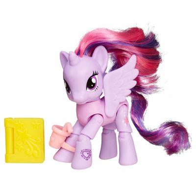 Mini Figura Articulada - My Little Pony Explore Equestria - Café Livraria - Twilight Sparkle - Hasbro