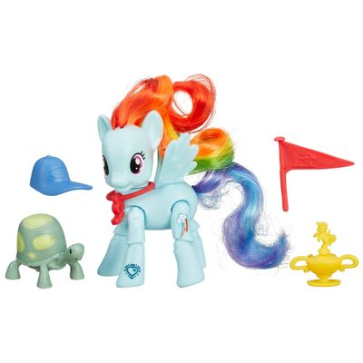 Mini Figura Articulada - My Little Pony Explore Equestria - Patada Ganhadora - Rainbow Dash - Hasbro