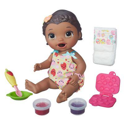 Boneca Baby Alive - Negra - Hora do Lanchinho - Hasbro