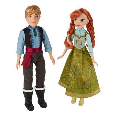 Bonecos Clássicos - Disney Frozen - Anna e Kristoff - Hasbro