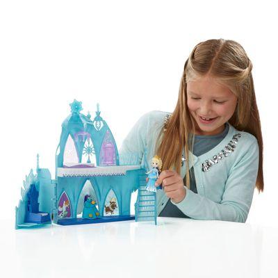 Playset de Luxo - Disney Frozen - Little Kingdom - Castelo de Gelo da Elsa - Hasbro