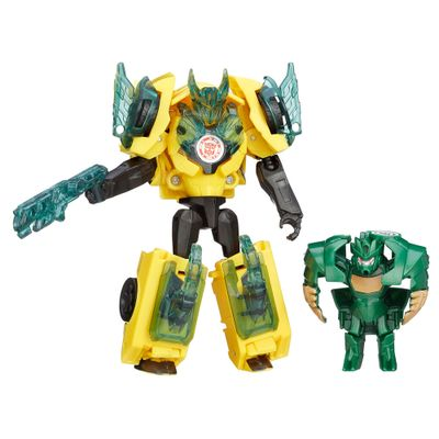 Boneco Transformers - Robots In Disguise - Minicons Battle - Bumblebee Vs Major Mayhem - Hasbro
