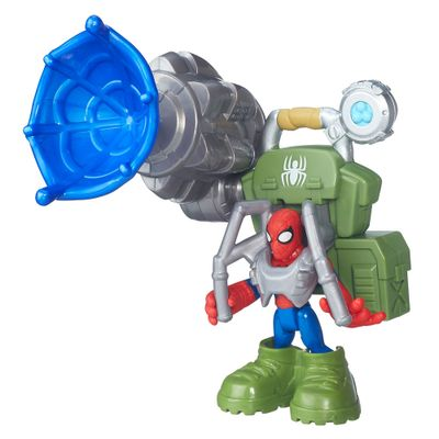 Mini Figura Playskool Heroes - Marvel Super Hero Adventure - Homem-Aranha na Selva - Hasbro - Disney