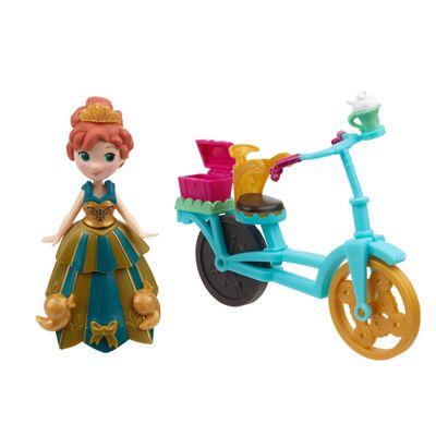 Mini Boneca - Disney Frozen - Little Kingdom - Anna e sua Bicicleta - Hasbro