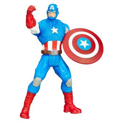 Mini Boneco - Marvel Avengers - 10 cm - Capitão América - Hasbro - Disney