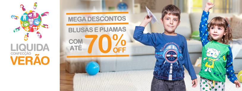 Blusas e Pijamas com até 70% Off