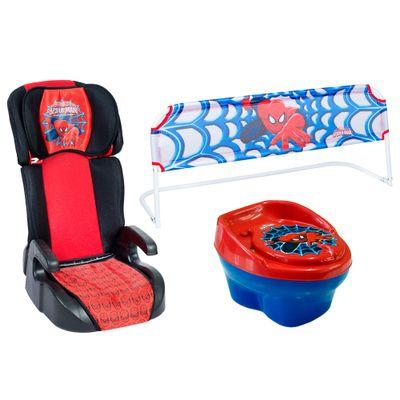 Kit Homem-Aranha - Cadeira para Auto G2 e G3, Troninho e Grade de Cama - Styll Baby