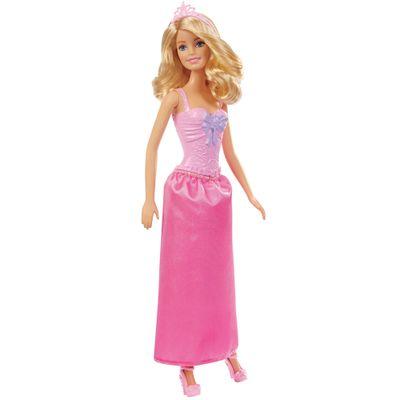 Boneca Barbie - Reinos Mágicos - Baile de Princesas - Vestido Rosa com Brilhantes - Mattel - Disney