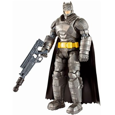Figura Articulada 15 Cm - DC Heroes - Batman Vs Superman - A Origem da Justiça - Batman com Armadura e Acessórios - Mattel