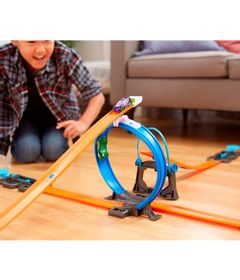 Conjunto-de-Pista-e-Extensores-Hot-Wheels---Track-Builder---Kit-Iniciante-com-Looping-e-Veiculo-Sortido---Mattel