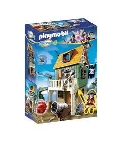 Playset-e-Figura-Playmobil---Serie-Super-4---Forte-Pirata-Camuflado-com-a-Ruby---4796