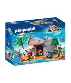 Playset-e-Figura-Playmobil---Serie-Super-4---Caverna-Pirata---4797