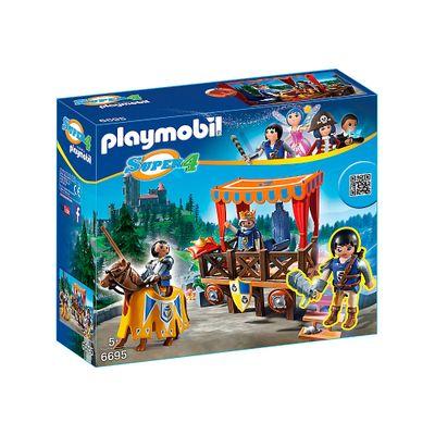 Playset e Figura Playmobil - Série Super 4 - Tribuna Real com Alex - 6695