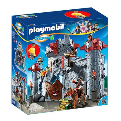 Playset-e-Figura-Playmobil---Serie-Super-4---Castelo-do-Barao-Negro---6697