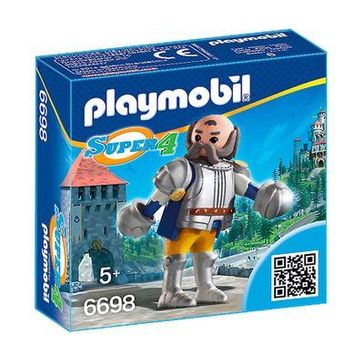 Figura com Acessórios Playmobil - Série Super 4 - Guardião Real Sir Ulf - 6698