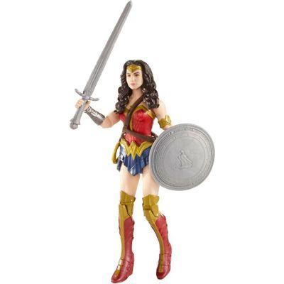 Figura Articulada 15 Cm - DC Heroes - Batman Vs Superman - A Origem da Justiça - Mulher Maravilha e Acessórios - Mattel