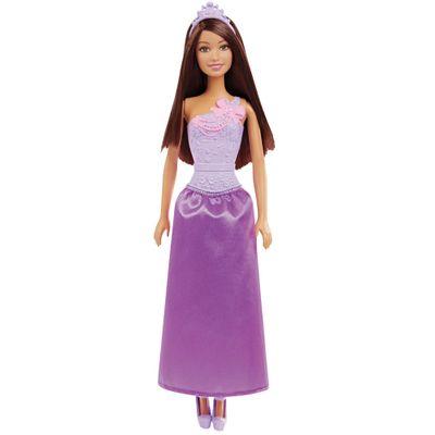 Boneca Barbie - Reinos Mágicos - Baile de Princesas - Vestido Roxo e Rosa - Mattel - Disney