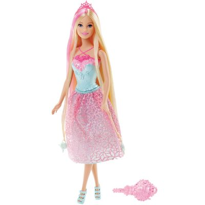 Boneca Barbie - Reinos Mágicos - Princesas Penteados Mágicos - Cabelo Loiro - Mattel - Disney