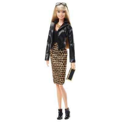 Boneca Barbie Colecionável - Serie Look - Black Label - Estilo Urbano - Jaqueta de Couro e Vestido  - Mattel