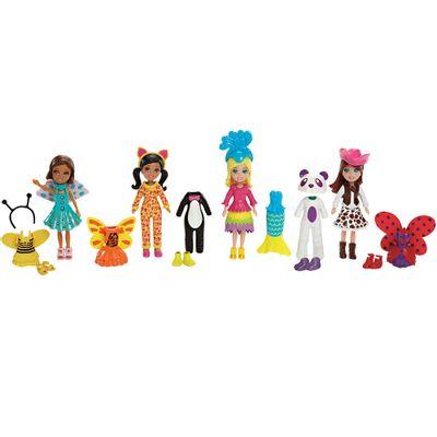 Conjunto de Bonecas - Polly Pocket Festa a Fantasia - Fantasias de Animais - Mattel