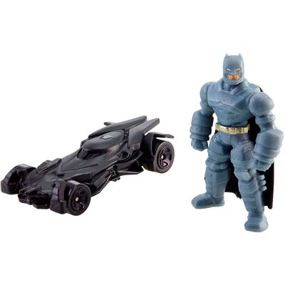 Mini Figura e Veículo - Hot Wheels - Batman Vs Superman - A Origem da Justiça - Batman e Batmóvel - Mattel