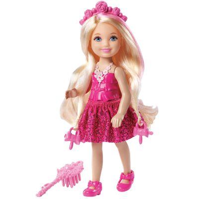 Mini Boneca Barbie - Reinos Mágicos - Chelsea Penteados Mágicos - Penteado Loiro - Mattel
